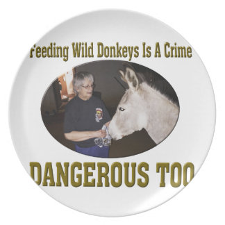 Don't Feed The Wild Donkey Plate