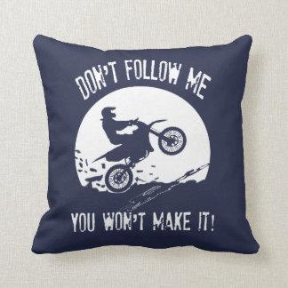 Don't follow me cushion