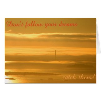 Don't follow your dreams - CATCH them!
