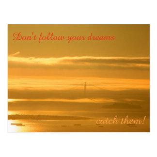 Don't follow your dreams - CATCH them! Postcard