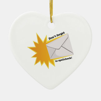 Don't Forget Ceramic Heart Ornament
