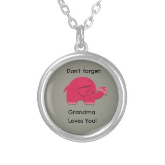 Don't forget: Grandma Loves You! Granddaughter Silver Plated Necklace