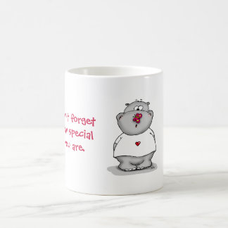 Don't forget how special you Hippo with Butterfly Mugs