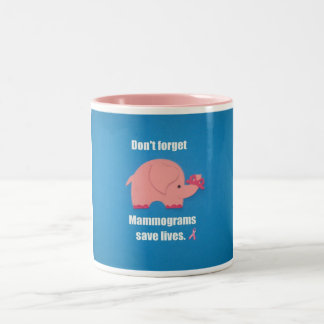 Don't forget Mammograms save lives. Coffee Mug
