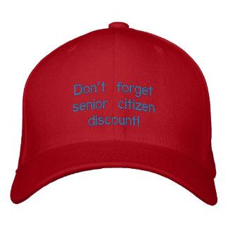 Don't forget senior citizen discount cap