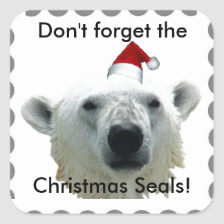 Don't Forget the Christmas Seals! Polar Bear Stickers