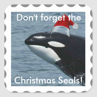 Don't Forget the Christmas Seals! Whale Sticker