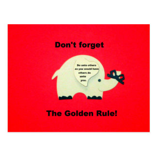 Don't forget the Golden Rule Postcard