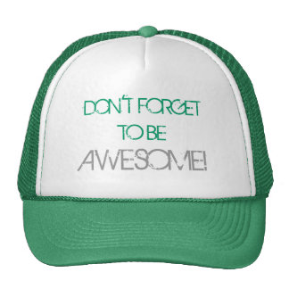 Don't Forget To Be Awesome Hat