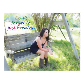 Don't forget to just breathe postcard