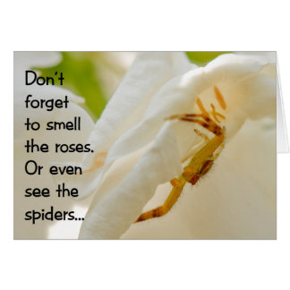 Don't forget to smell the roses card