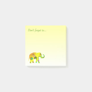 Don't forget to... with beautiful elephant post-it notes