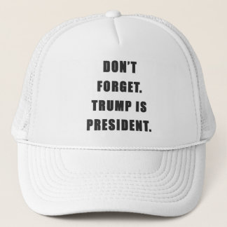 """Don't Forget. Trump Is President."" Hat"