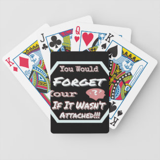 Dont Forget Your Head Bicycle Playing Cards