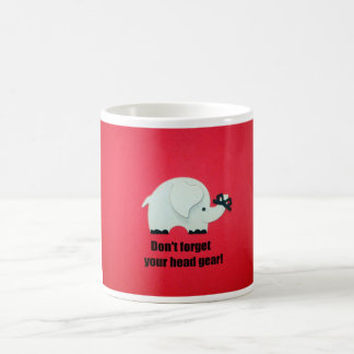 Don't forget your head gear! coffee mugs