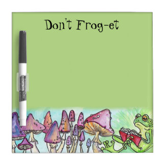 """Don't Frog-et"" Froggy Reading Dry Erase Board"