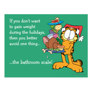 Don't Gain Weight During the Holidays Postcard