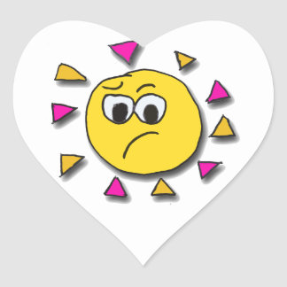 Dont 'Get on my wrong cheekie side Heart Stickers