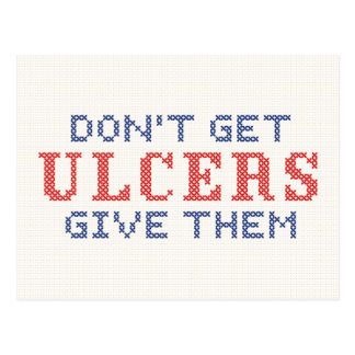 Don't Get Ulcers Postcard