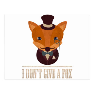 Dont Give A Fox Comic Animal Postcard