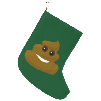 Don't Give A Poo Emoji Large Christmas Stocking