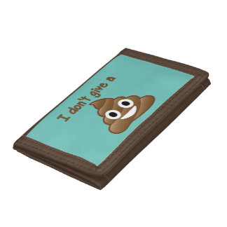 Don't Give An Emoji Poop Trifold Wallet