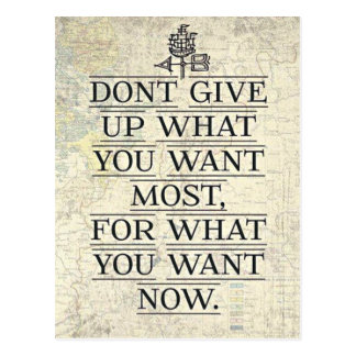 Don't Give Up Motivational Quotes Postcard