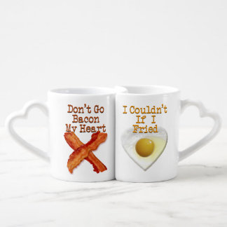 Don't Go Bacon My Heart Humorous Lovers Lovers Mug Set