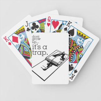 Don't Grow Up Bicycle Playing Cards