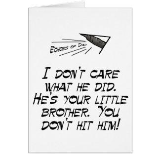Don't hit him! card