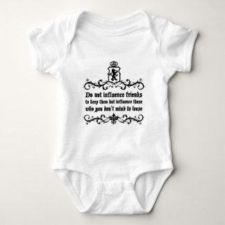 Dont Influece Friends quote Baby Bodysuit