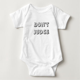 Don't Judge Baby Bodysuit