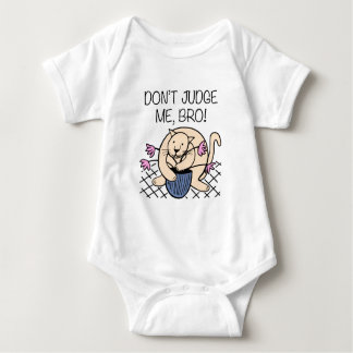 Don't Judge Me Bro Cat Cartoon Baby Bodysuit