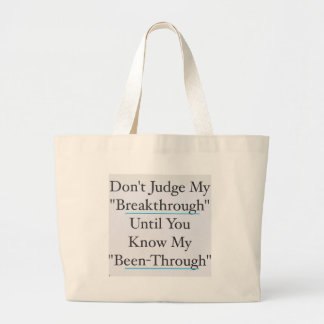 Don't Judge Me Large Tote Bag