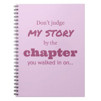 """Don't judge..."" Notebook"