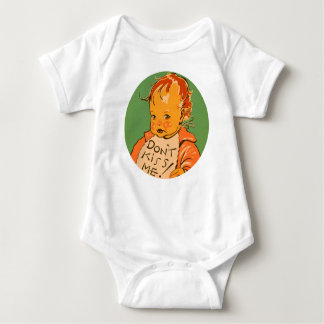 """Don't Kiss Me"" Vintage Retro Baby Baby Bodysuit"