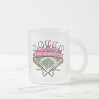Don't Let Breast Cancer Steal 2nd Base Frosted Glass Mug