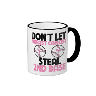 Don't Let Breast Cancer Steal 2nd Base Ringer Coffee Mug