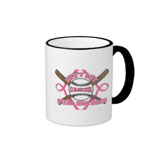 Don't Let Cancer Steal 2nd Base - Breast Cancer Mugs