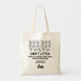 Don't Litter Canvas Tote Bag