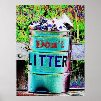 Don't Litter Poster