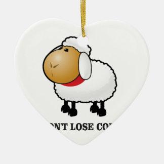 dont lose count sheep ceramic ornament