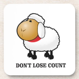 dont lose count sheep coaster