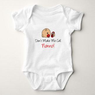 Don't Make Me Call Nonno Baby Bodysuit