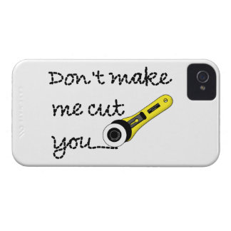 """""""Don't Make Me Cut You"""" Craft iPhone 4/4S Case (Ve"""