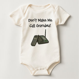 Don't Make MeCall Grandma! Baby Bodysuit