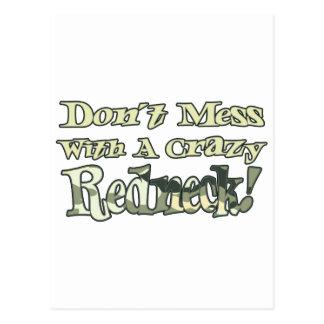 Dont Mess With A Crazy Redneck Camo Postcard