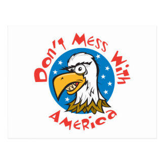 Dont Mess With America Eagle Postcard