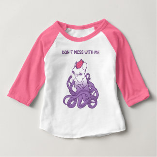 Don't Mess With Me Frenchie Design Baby T-Shirt
