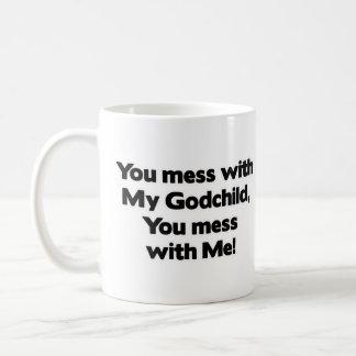 Don't Mess with My Godchild Mugs